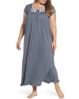 Cotton & Modal Long Nightgown