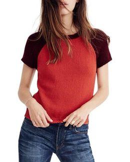 Colorblock Crop Sweater