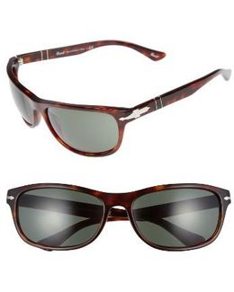 Officina 63mm Polarized Sungasses - Havana/ Green