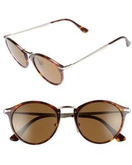 Sartoria Typewriter 51mm Polarized Sunglasses - Havana/ Brown