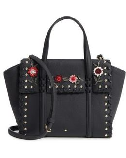 Small Madison Daniels Drive - Abigail Embellished Leather Tote