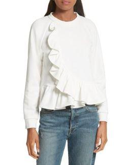 Ruffle Crop Sweatshirt