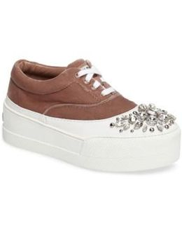 Embellished Flatform Sneaker