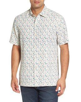 Alcazar Tiles Standard Fit Silk Camp Shirt