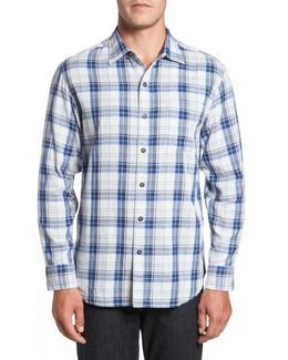 Aladdin Standard Fit Plaid Sport Shirt