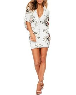 Lace-up Body Con Dress