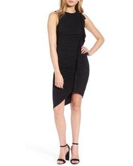 Asymmetrical Ruffle Body-con Dress