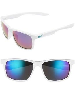 Essential Chaser 59mm Reflective Sunglasses - Clear