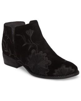 Lantern Embroidered Short Bootie