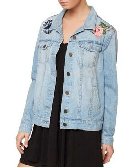 Butterfly Obsessed Denim Jacket