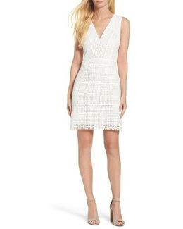 Summer Cage Lace Sheath Dress