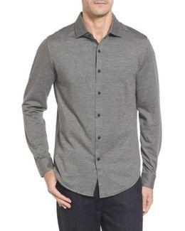 Regular Fit Pique Knit Sport Shirt