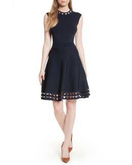 Kathryn Cutwork Knit Skater Dress