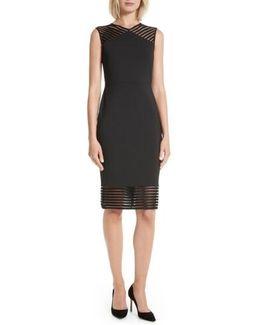 Lucette Mesh Detail Body Con Dress