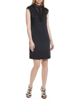 Jesyka Lace Inset Tunic Dress