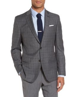 Tivoli Trim Fit Plaid Wool Sport Coat