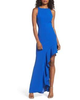 Stella Asymmetrical Ruffle Gown