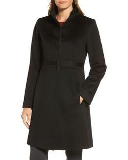 Applique Wool Coat