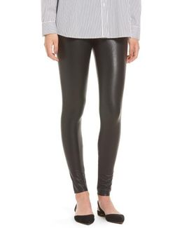Control Top Faux Leather Leggings
