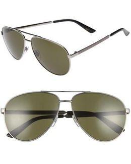 61mm Aviator Sunglasses - Ruthenium