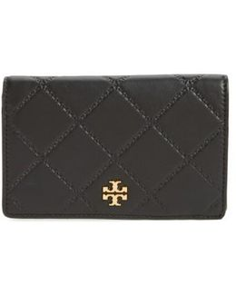 Medium Georgia Slim Leather Wallet