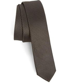 Dot Pattern Silk Skinny Tie