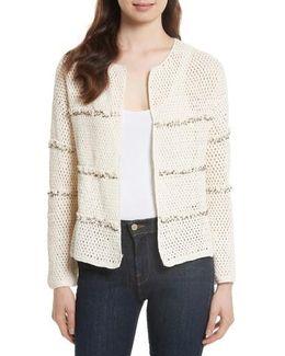 Jacquine Embellished Open Front Cardigan