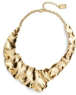 Gold Plate Collar Necklace