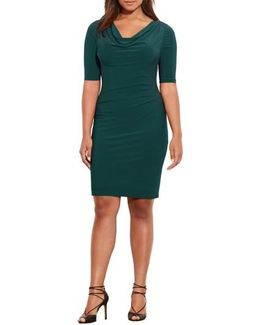 Carleton Cowl Neck Jersey Dress