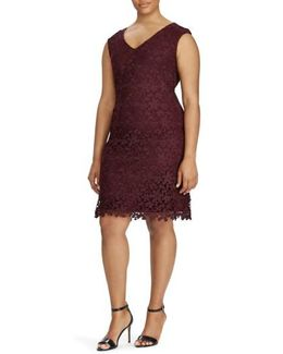 Montie Floral Lace Sheath Dress