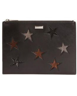 Falabella Star Inset Faux Leather Zip Pouch