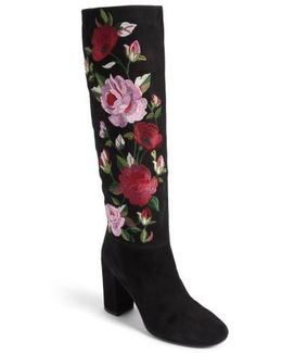 Greenfield Flower Embroidered Boot