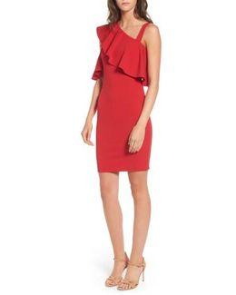 Ruffle One-shoulder Body-con Dress