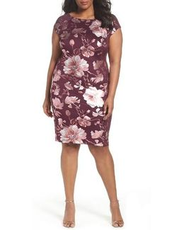 Shimmer Print Sheath Dress