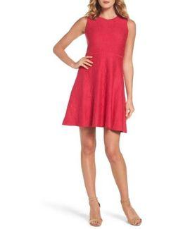 Texture Knit Fit & Flare Dress