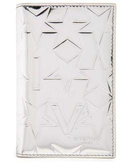 Embossed Bifold Leather Card Case - Metallic