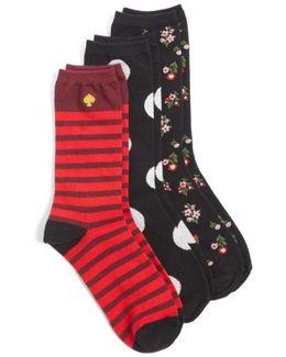 3-pack Crew Socks, Black