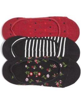 3-pack Liner Socks, Black