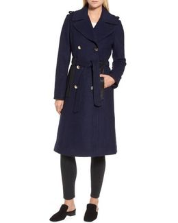 Boiled Wool Trench Coat