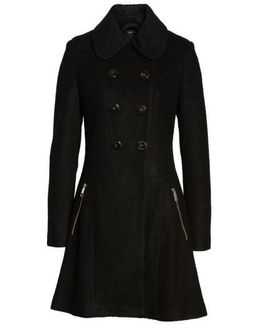 Double Breasted Boiled Wool Peacoat