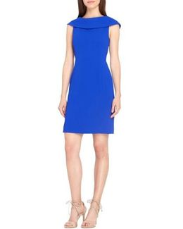Roll Neck Sheath Dress