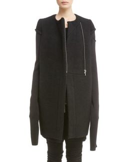 Double Face Boiled Wool Jacket