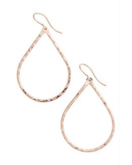 Pure Small Hammered Teardrop Earrings