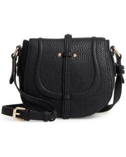 Classic Faux Leather Saddle Bag