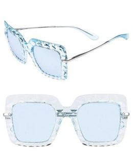 51mm Square Faceted Sunglasses