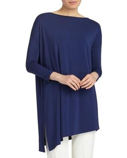 Cultivated Crepe Jersey Asymmetrical Tunic