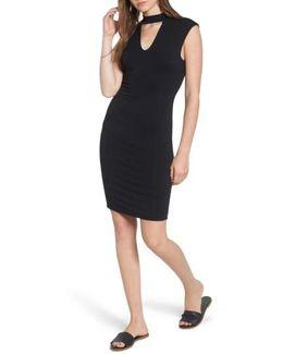 Choker Knit Body-con Dress