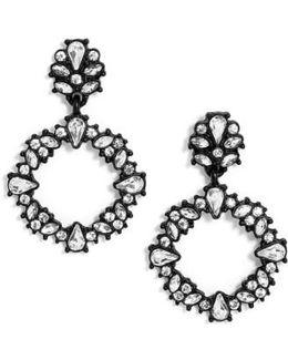 Magnolia Hoop Earrings