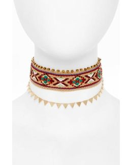 Embroidered Choker