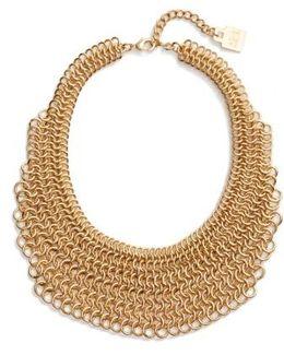 Linked Circle Statement Bib Necklace